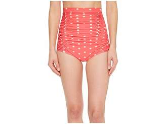 Unique Vintage Monroe High-Waist Swim Bottom Women's Swimwear