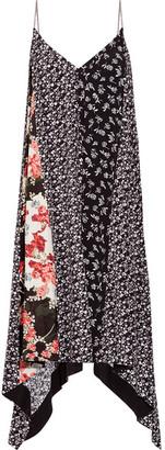 rag & bone - Londar Asymmetric Floral-print Crepe Midi Dress - Black $550 thestylecure.com