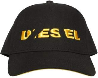 Diesel Broken Logo Twill Baseball Hat