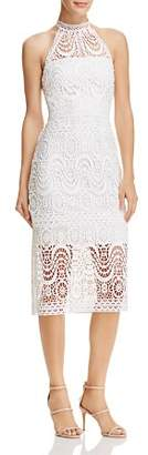 Laundry by Shelli Segal Mock-Neck Lace Dress