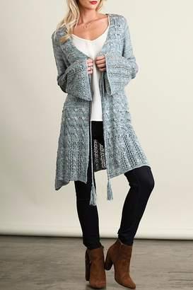 Umgee USA Long Blue Cardigan