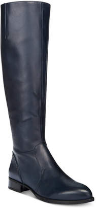 Nine West Nicolah Block-Heel Tall Boots Women's Shoes $179 thestylecure.com