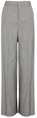 Stella McCartney Robin Tweed Monochrome Wool Trousers