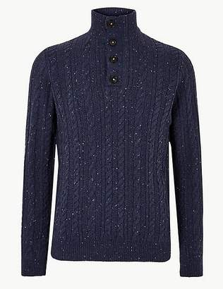 Marks and Spencer Cable Knit Jumper with Wool & Alpaca