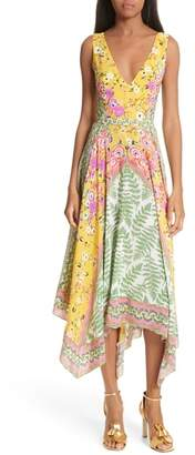 Saloni Zuri Floral Print Dress