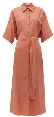 Raey Dolman Sleeve Silk Blend Shirtdress - Womens - Bronze