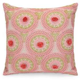 Jessica Simpson Amrita Medallion Crochet Decorative Pillow