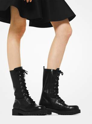 Michael Kors Brenna Calf Leather Combat Boot