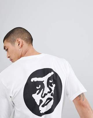 Obey T-Shirt With Creeper Circle Back Print In White