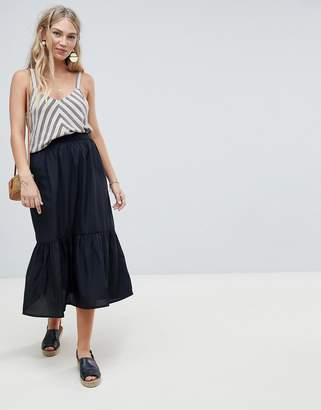 Vero Moda Peplum Hem Midi Skirt