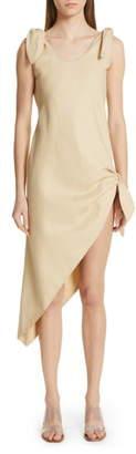 Cult Gaia Dehlila Asymmetrical Cotton & Linen Dress