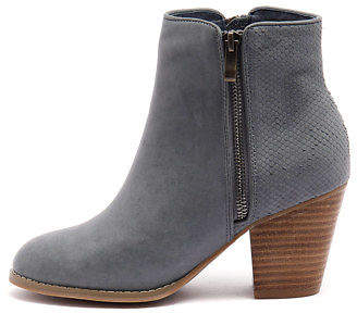 Django & Juliette New Roby Navy Cut Leather Navy Womens Shoes Casual Boots Ankle