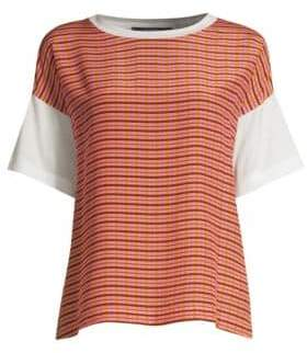 Max Mara Women's Amour Plaid Tee - Pink - Size Small