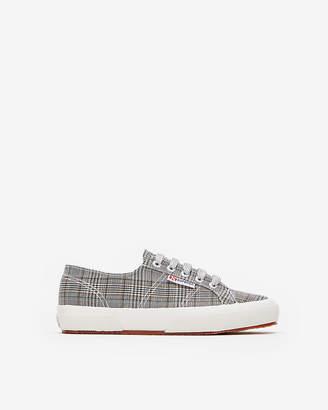 Express Superga Gray Plaid Sneakers