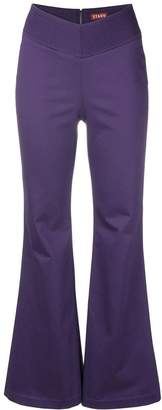 Staud long flared trousers