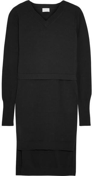 DKNY - Layered Cotton-blend Tunic - Black