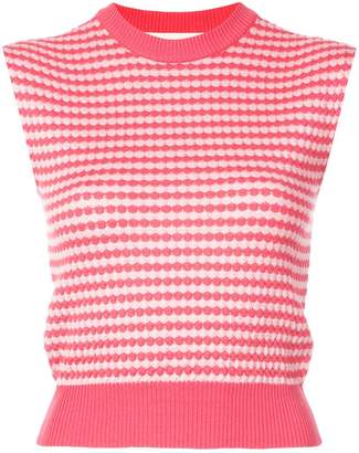 Marni sleeveless patterned knit top