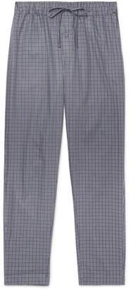 Hanro Checked Cotton Pyjama Trousers - Men - Blue