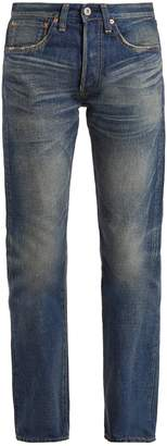 Junya Watanabe Straight-leg washed cotton-denim jeans