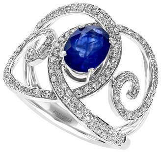 Effy Fine Jewelry 14K 1.95 Ct. Tw. Diamond & Ceylon Sapphire Ring