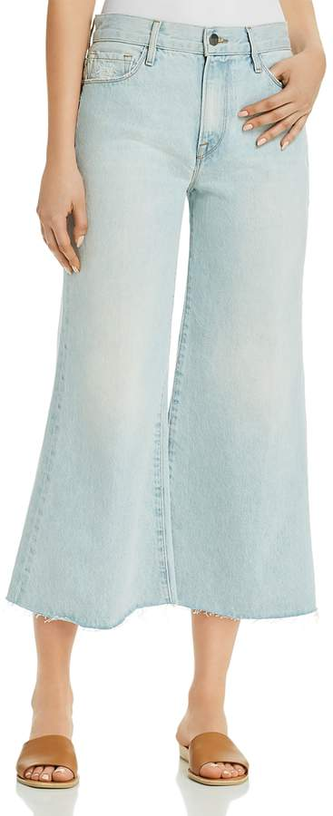 Le Palazzo Cropped Wide-Leg Jeans in Taplow