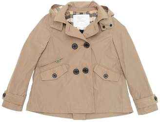 Burberry Hooded Double Breasted Nylon Jacket