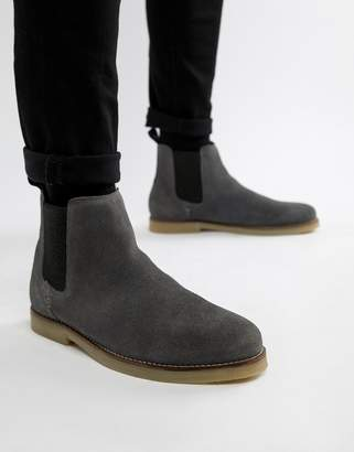 Religion suede chelsea boot in slate gray