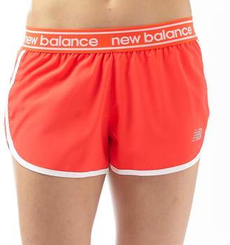 New Balance Womens Accelerate 2.5 Inch Running Shorts Flame