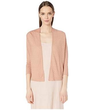 Eileen Fisher Fine Organic Linen Crepe Short Sleeve Cardigan