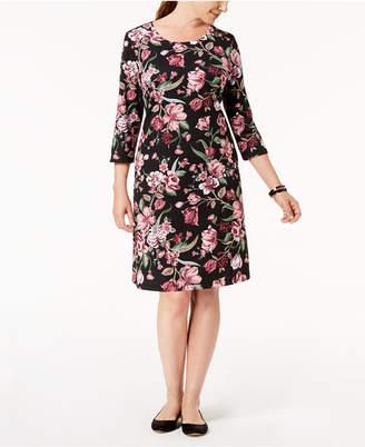 Karen Scott Petite Printed Swing Dress