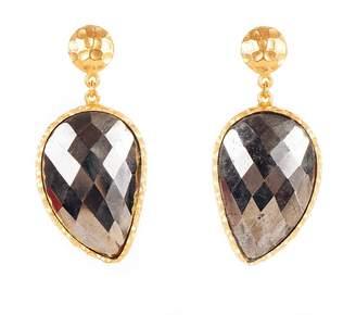 Christina Greene - Moon Earrings in Pyrite