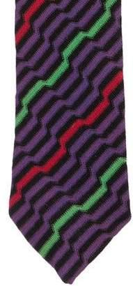 Missoni Geometric Print Knit Tie