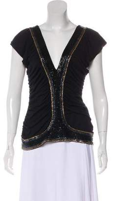 Sass & Bide Ruch-Accented Beaded Top