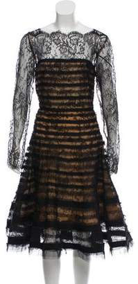 Oscar de la Renta Lace A-Line Dress