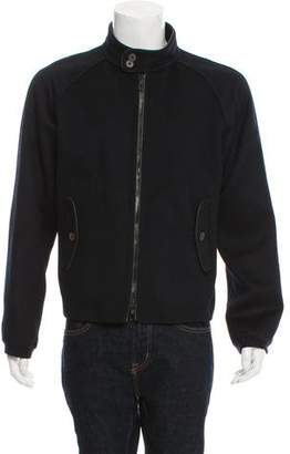 Giorgio Armani Cashmere Zip-Up Bomber Jacket