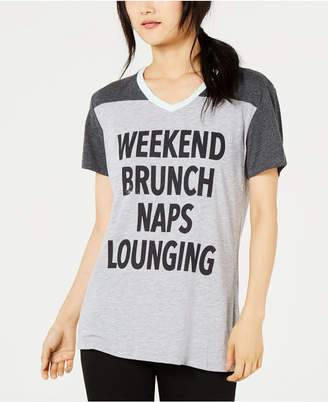 Love Tribe Juniors' Weekends Graphic-Print T-Shirt