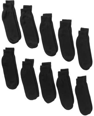 Gildan Men's Big and Tall Ankle Socks 10-pack