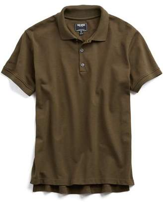 Todd Snyder Cotton Piqué Polo in Olive