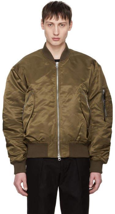 Acne Studios Green Makio Bomber Jacket