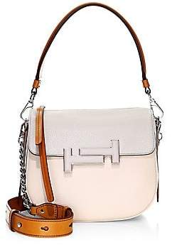 Tod's Women's Pebbled Leather Saddle Crossbody Bag