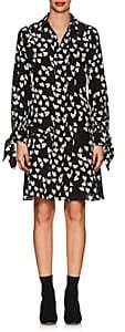 Derek Lam Women's Floral Silk Shirtdress-Black Ivory