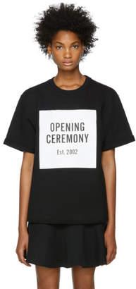 Opening Ceremony Black Logo Short Sleeve Sweatshirt