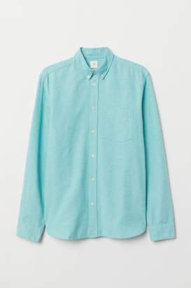 H&M Regular Fit Oxford Shirt - Turquoise