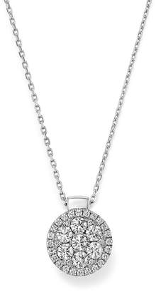 Frederic Sage 18K White Gold Firenze Diamond Cluster Pendant Necklace, 16