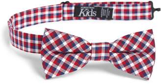 Nordstrom Plaid Cotton Bow Tie