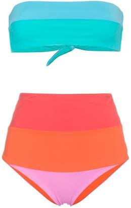 Mara Hoffman Multicoloured Stripe Bikini