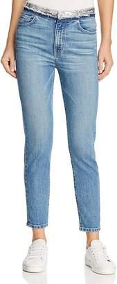 Iro . Jeans IRO.JEANS Jones Sequin-Waist Skinny Jeans in Stone Blue