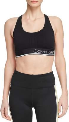 Calvin Klein Textured Logo Sports Bra