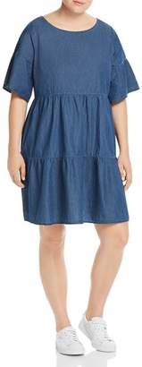 Junarose Plus Tiered Denim Dress