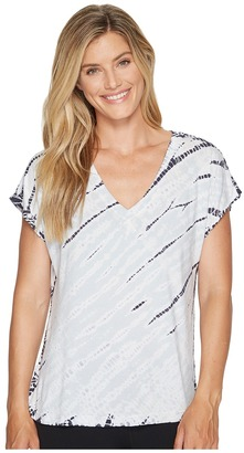 Hard Tail - Slouchy V-Neck Short Sleeve Tee Women's T Shirt $68 thestylecure.com